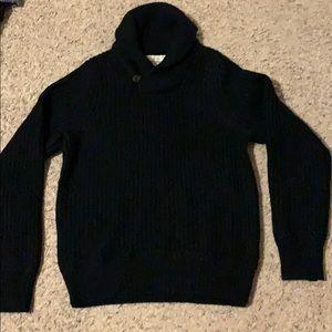 Men's cowl neck sweater